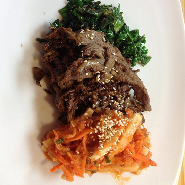 Bulgogi With Kimchi And Sesame Greens @ Kimbap