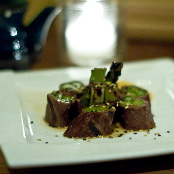 Beef Asparagus @ Nihon Whiskey Lounge