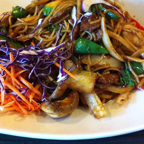 Spaghetti Kee Mao Beef @ @ Home Thai Fusion Bistro