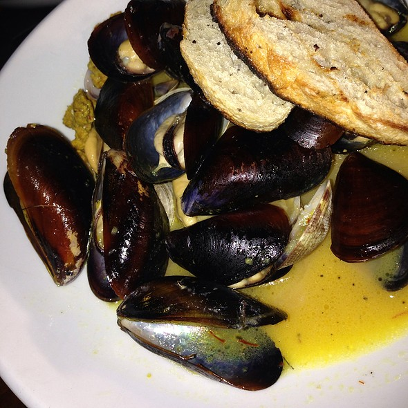Mussels And Clams With Chorizo, Roasted Lemon Butter And Saffron - Post & Beam, Los Angeles, CA
