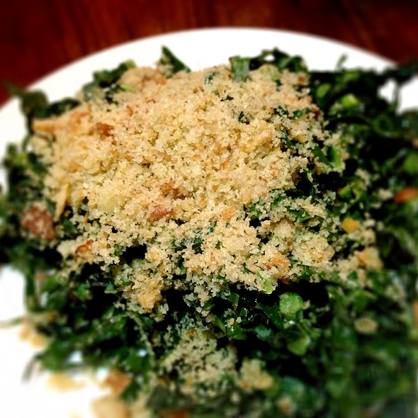 Cold Kale Salad with Meyer Vinaigrette& Bread Crumbs - Starlite, San Diego, CA