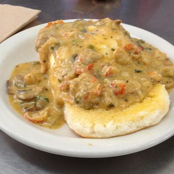 Creole Crawfish Biscuit @ Dots Diner