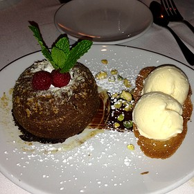 Chocolate Lava Cake - Fleming's Steakhouse - Austin, Austin, TX