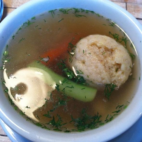 Matzo Ball soup @ Mile End Delicatessen