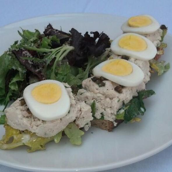 House poached local Albacore tuna sandwich - Gardens of Avila Restaurant, San Luis Obispo, CA