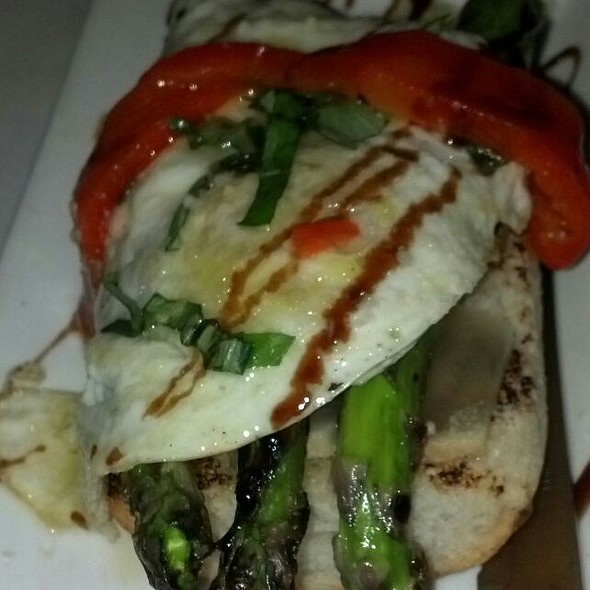 Bruschetta With Fried Egg & Asparagus - Monica's Trattoria, Boston, MA