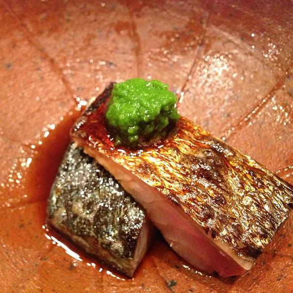 smoked mackarel @ Sushi Yoshitake