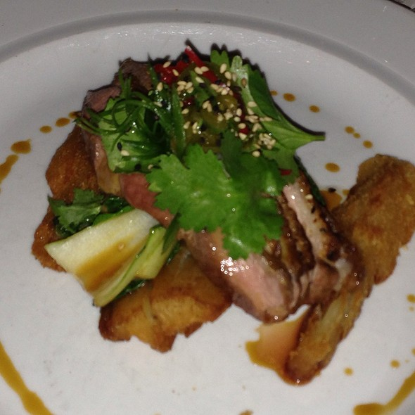 Pan-Roasted Duck Breast With Sesame Soy Dressing And Bok Choy @ Public Restaurant