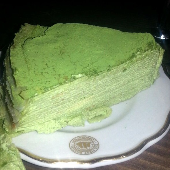 Green Tea Mille Crepes Cake