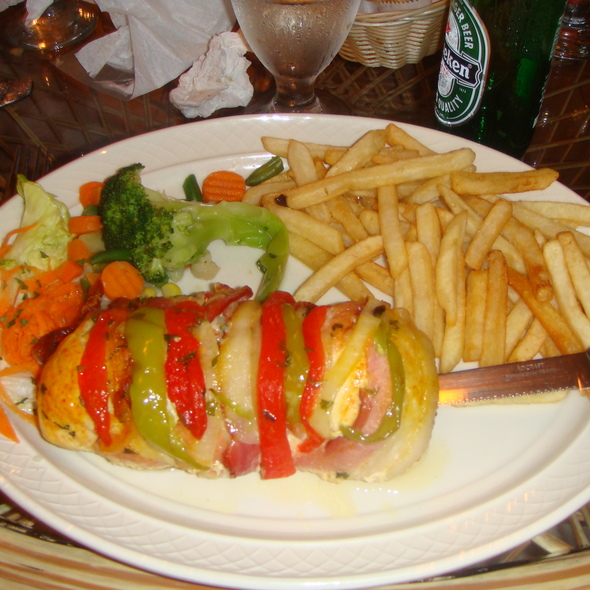 Chicken Breast stuffed with Lobster Tail Wrapped in Bacon @ El Galeon