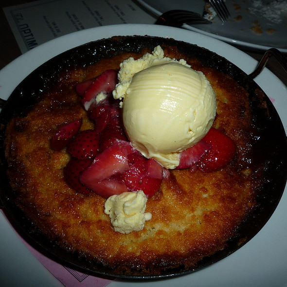 Strawberry Upside Down Skillet Cake (Lee Brothers Event) @ The Optimist