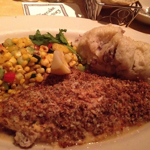 Pecan Crusted Catfish @ The Cheesecake Factory