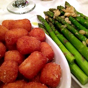 Truffled Tater Tots & Asparagus