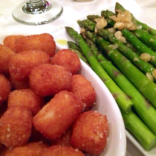 Truffled Tater Tots & Asparagus - Grill 23 & Bar, Boston, MA