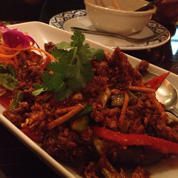 Beef In Thai Chili Paste @ Panya Thai