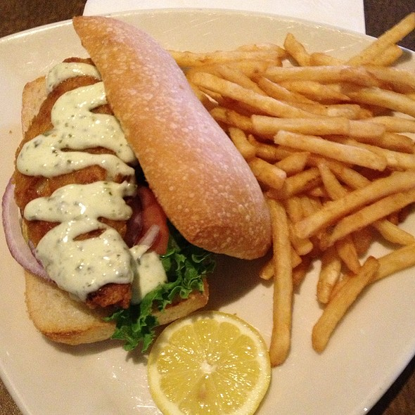 Haddock Sandwich On Ciabatta With Fries @ Allentown Brew Works