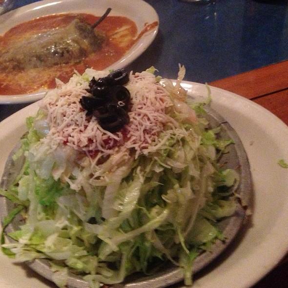 Sizzling Tostada @ Estrada Mexican And Caribbean Restaurant