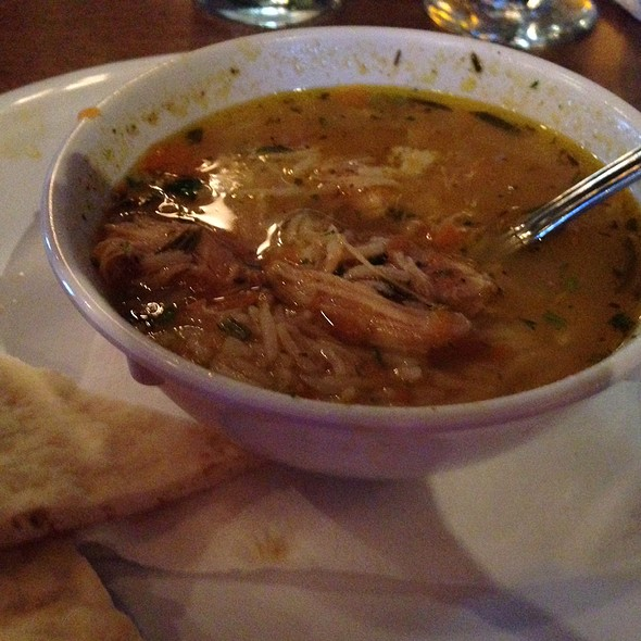 Greek Lemon Chicken Soup @ Taziki's Mediterranean Cafe