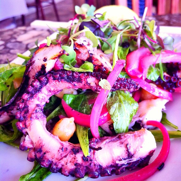 Grilled Octapus Salad W/ Chickpeas & Pickled Onions - North Shore Kula Grille, North Shore, HI