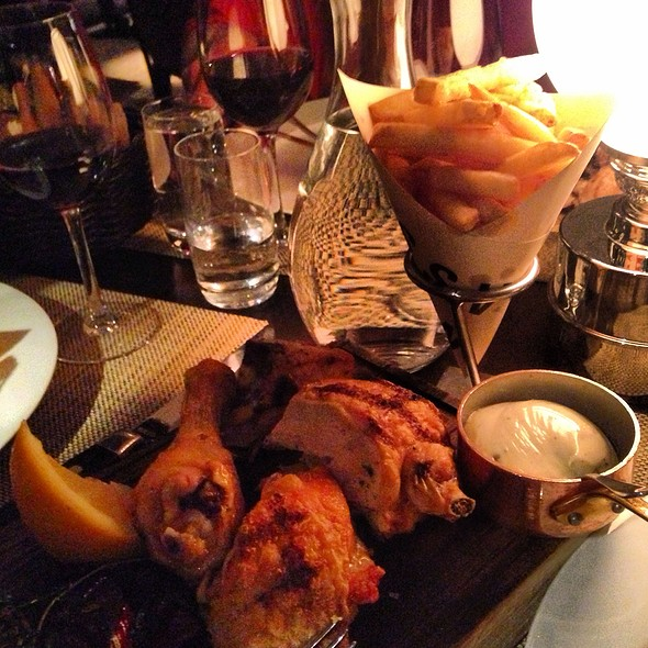 Grilled Corn-Fed Chicken With Fries And Truffle Mayo @ Restaurang Vassa Eggen