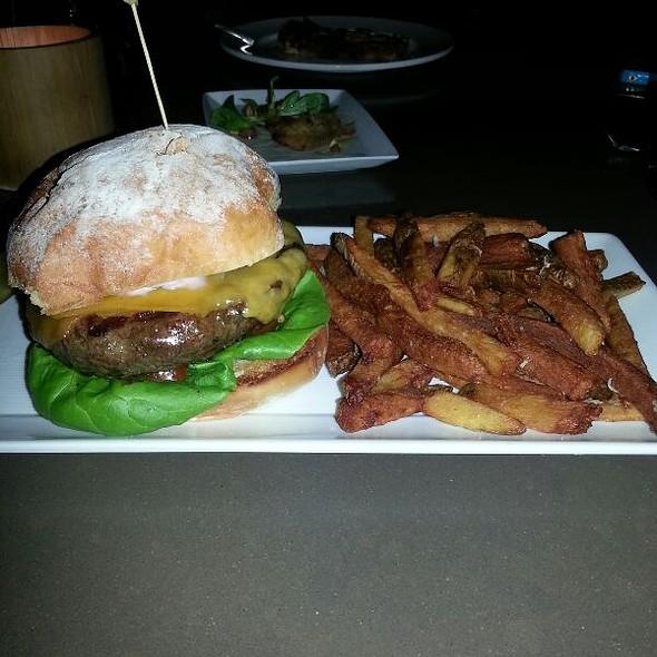 Grilled Dry Aged Cheddar Burger - Rustico - Ballston, Arlington, VA