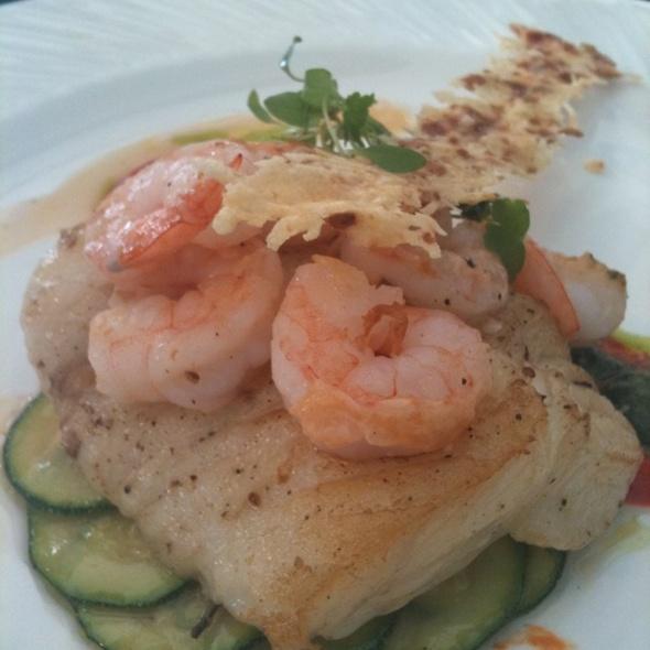 Hailbut With Shrimp @  Rembrandt Hotel