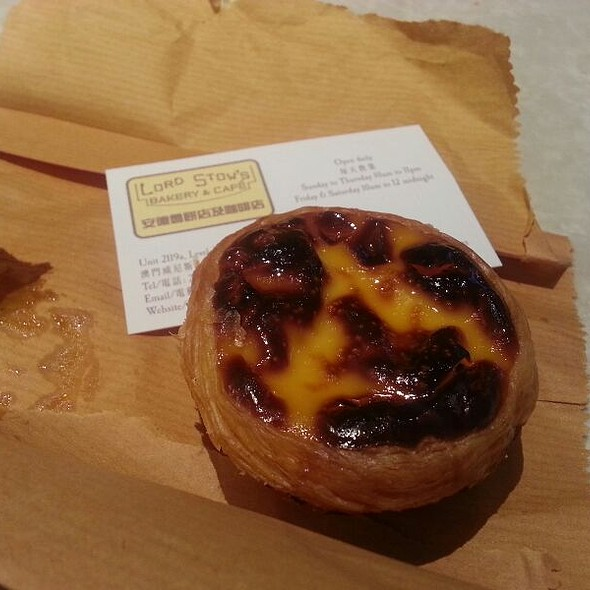 Portuguese Egg Tart @ Lord Stow's Bakery & Cafe