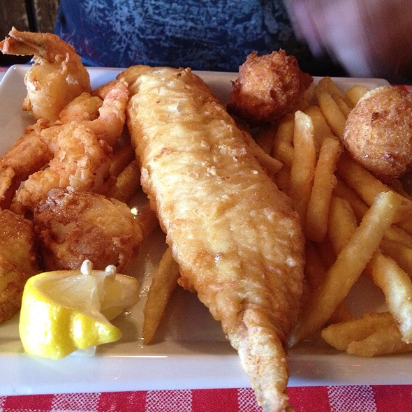 Fried Seafood Platter @ Jolly Roger Restaurant