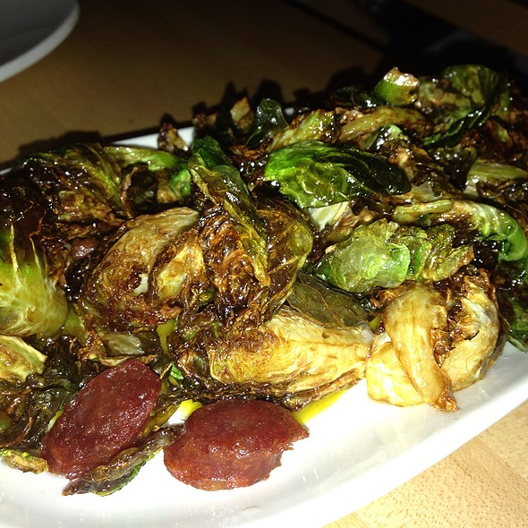 Fried Brussel Sprouts And Chinese Sausage  @ Kin Shop