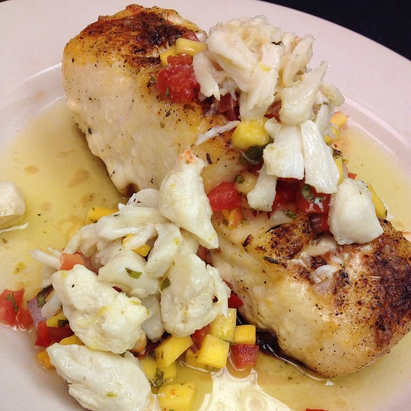 Grouper Santa Fe With Mango Salsa @ Mark's Prime Steakhouse