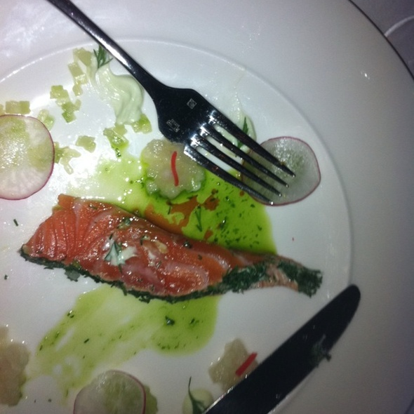 Salmon With Wasabii And Pickled  Pear @ Salon De Saveurs