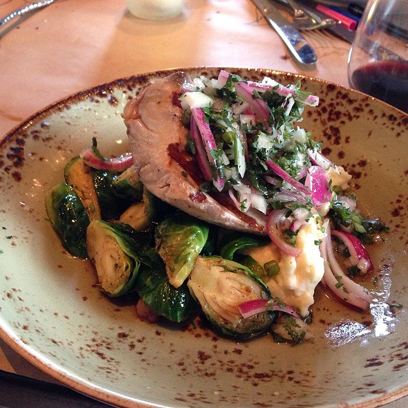 Yellowtail With Mashed Potatoes And Brussels Sprouts @ Roseville Cozinha
