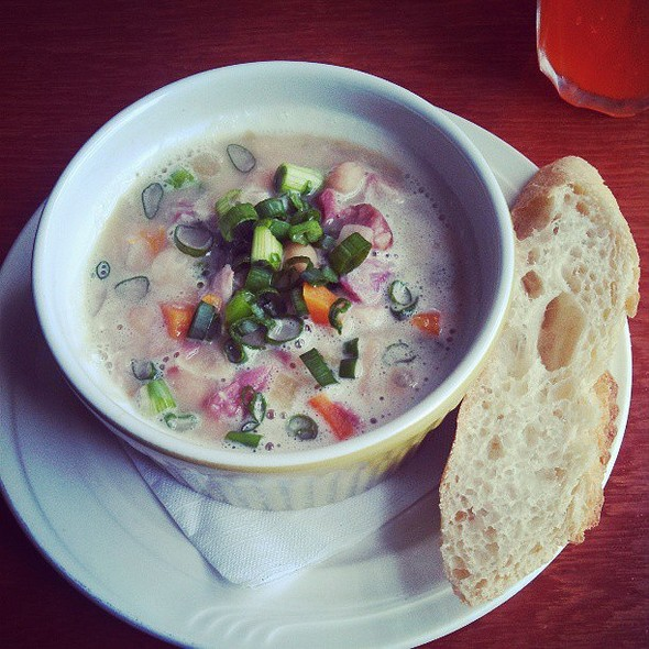 White bean and ham hock soup. @ Black Sheep