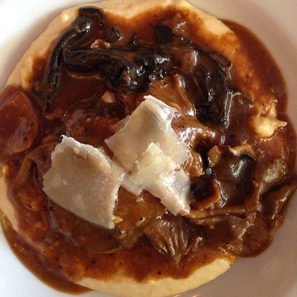 Veal Cheek With Polenta And Morels @ Joseph Decuis
