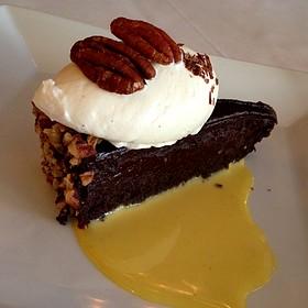 Pecan Bourbon Chocolate Cake