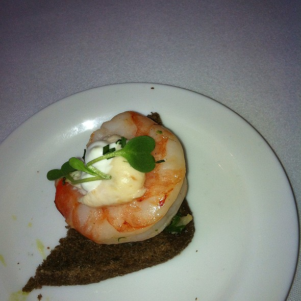 Shrimp With Herbed Creme Cheese - The Ritz-Carlton Grill, Clayton, MO