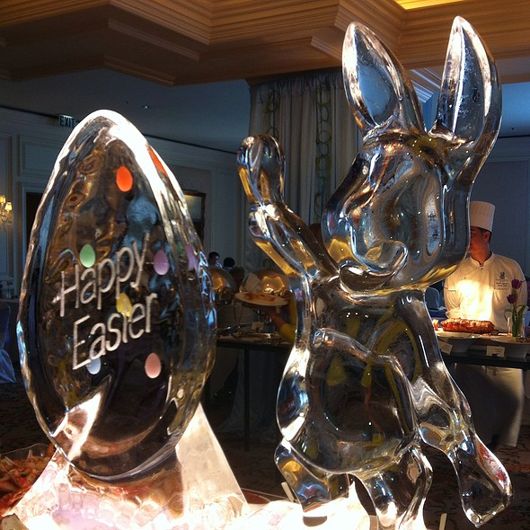 Happy Easter Ice Sculpture - The Ritz-Carlton Grill, Clayton, MO