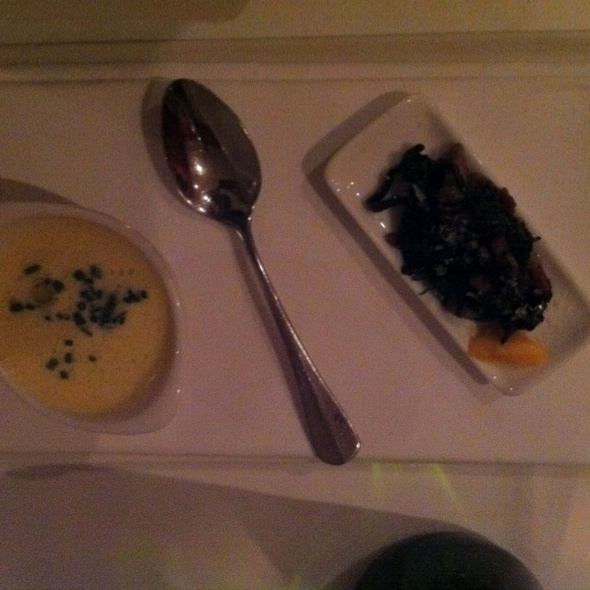 Butternut Soup With Black Vaped Wild Mushrooms and Pancetta @ Salon De Saveurs