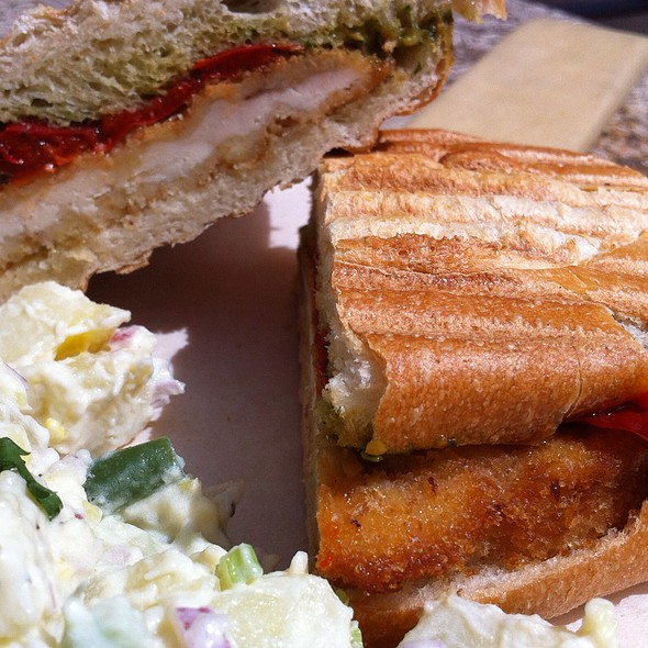 Chicken Breast Pesto Panini @ VJB Italian Marketplace & Cellars
