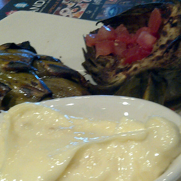 Fire Roasted Artichoke @ Claim Jumper Restaurant