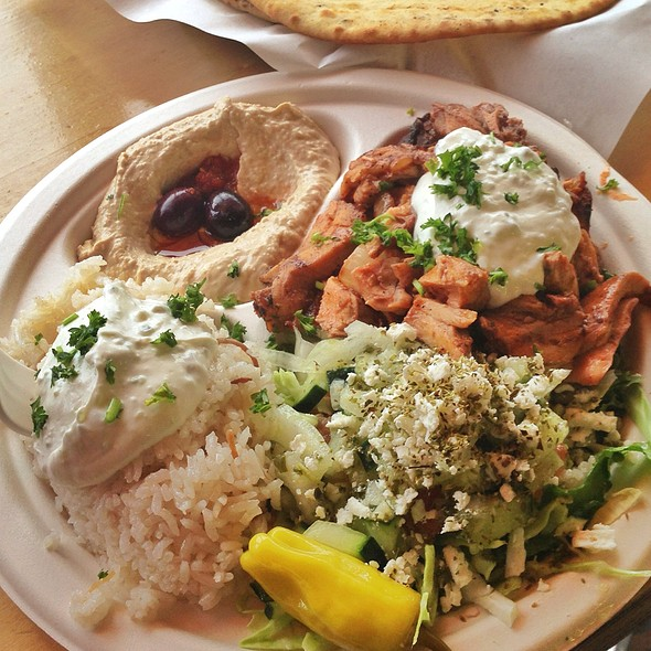 Chicken Shawarma Platter @ Mr. Gyros