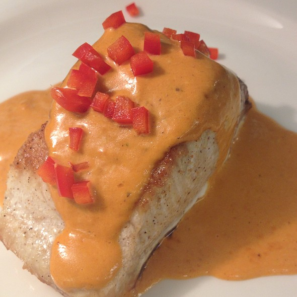 Swordfish With Red Pepper Cream Sauce @ Mark's Prime Steakhouse