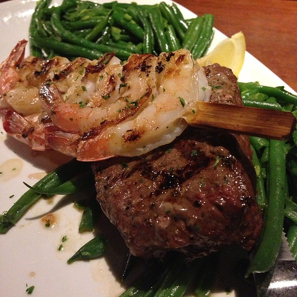 Peppercorn Sirloin And Grilled Shrimp