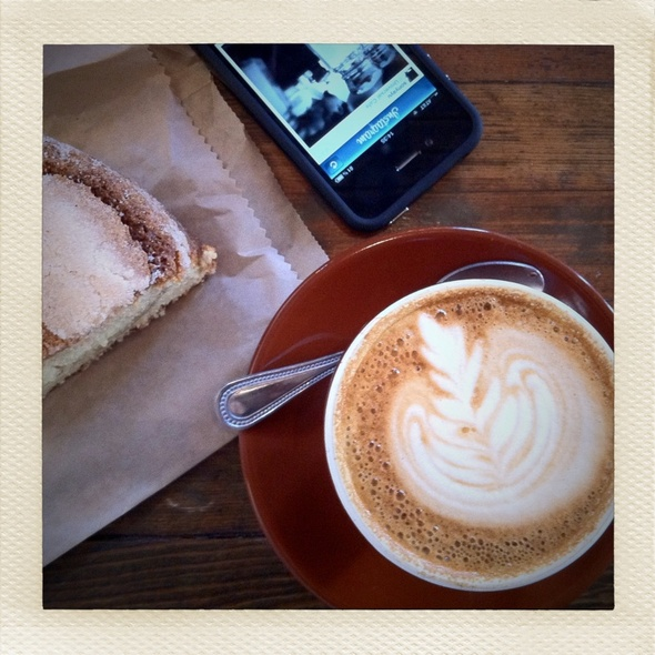Cappucino & Coffee Cake  @ Four Barrel Coffee