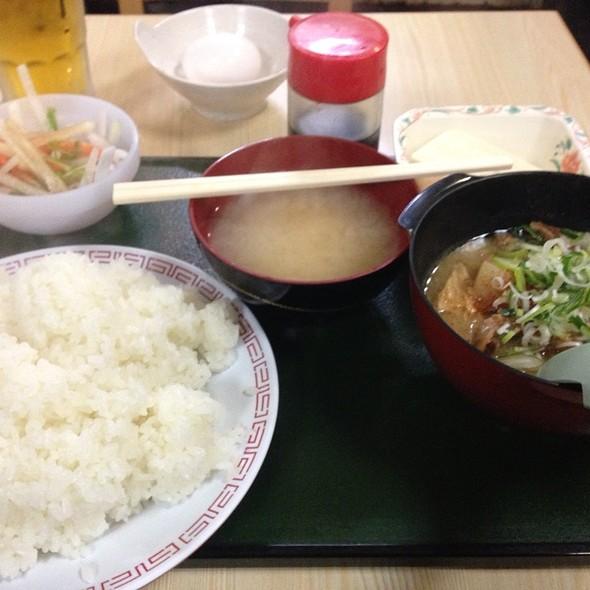 土手鍋定食 @ スタミナラーメン さわき 川内店