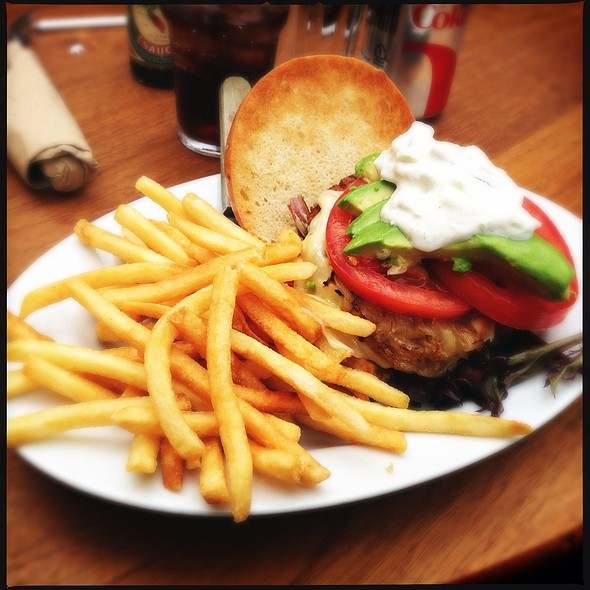 Veggie Burger With Avocado And Tzatziki @ Chow Restaurant