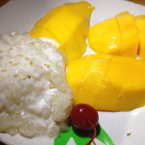 Lovely Mango Sticky Rice At Thai Patio Hollywood