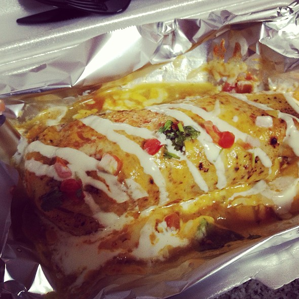 Lengua Salsa Verde Wet Burrito