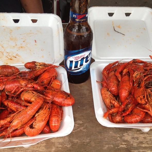 Cajun boiled crawfish @ Tobacco Road Bar &