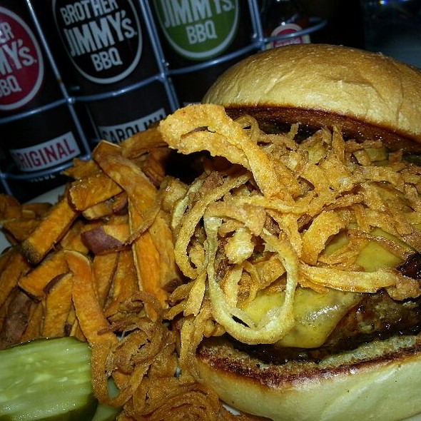 Bbq Burger w/ Sweet Potato Fries - Brother Jimmy's BBQ-New Brunswick, New Brunswick, NJ